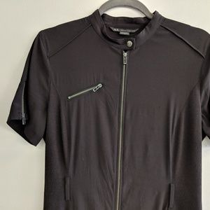 Armani Exchange Black Zipper Dress